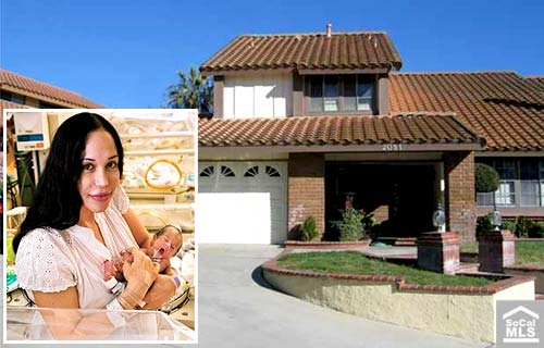 nadya suleman before. Octomom Nadya Suleman house in